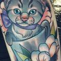 Arm Cat tattoo by Cloak and Dagger Tattoo