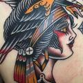 Back Indian Woman tattoo by Cloak and Dagger Tattoo