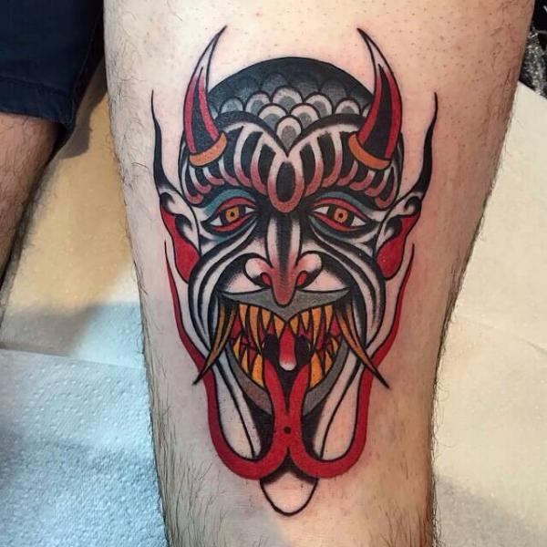 Leg Tattoo by Cloak and Dagger Tattoo