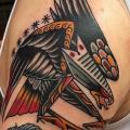 Shoulder Old School Eagle tattoo by Cloak and Dagger Tattoo