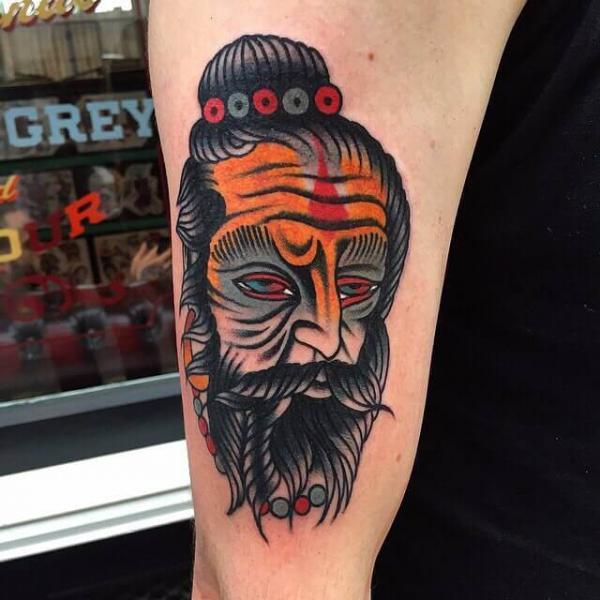 Portrait Old School Tattoo by Cloak and Dagger Tattoo