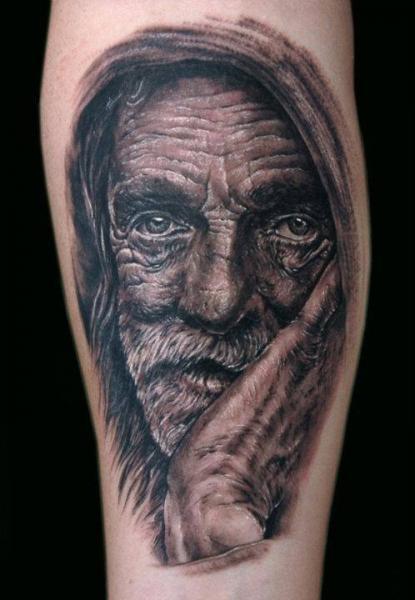 Arm Portrait Realistic Tattoo by Aero & inkeaters