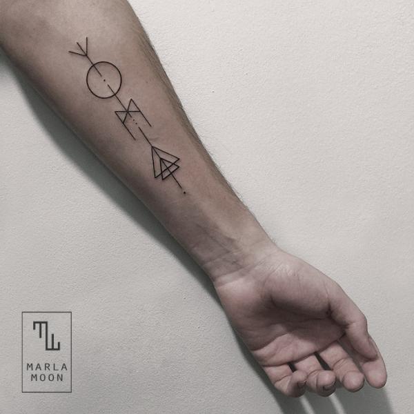 Arm Dotwork Abstrakt Tattoo von Marla Moon