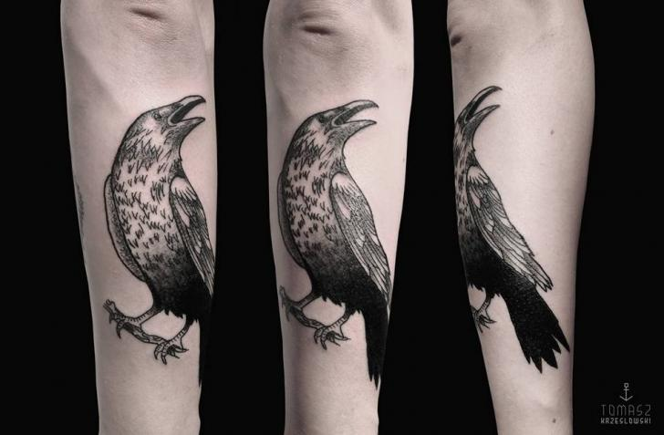 Crow tattoo 9