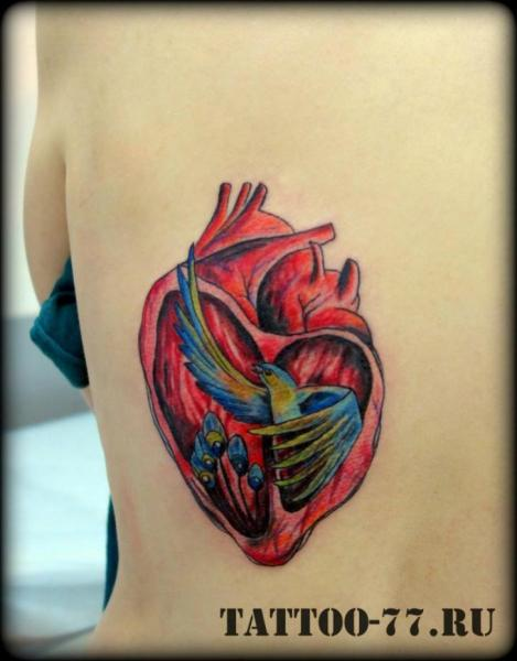 Heart Back Bird Tattoo by Tattoo-77