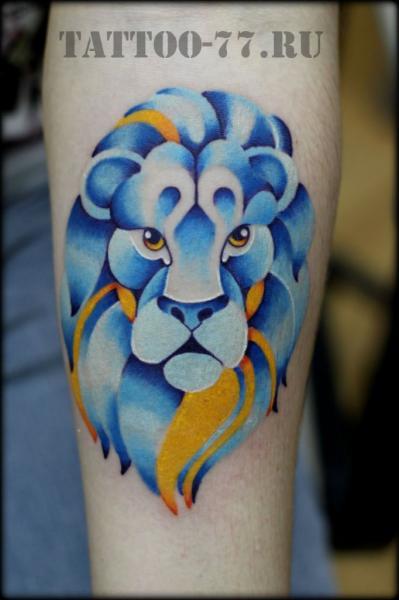 Arm Lion Tattoo by Tattoo-77