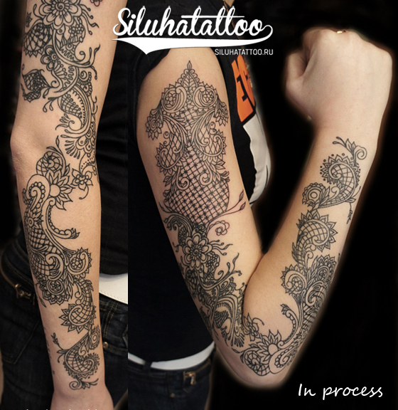 Arm Decoration Tattoo by Siluha Tattoo