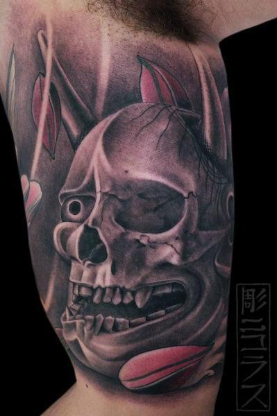 Arm Skull Tattoo by Nicklas Westin