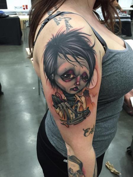Arm Character Tattoo by Niteowl Tattoo