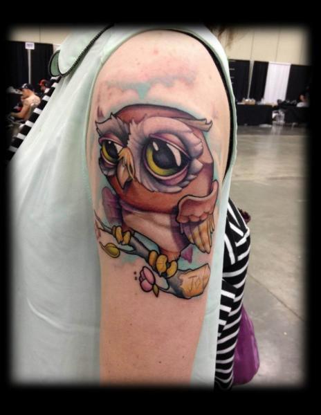 Arm Owl Tattoo by Niteowl Tattoo