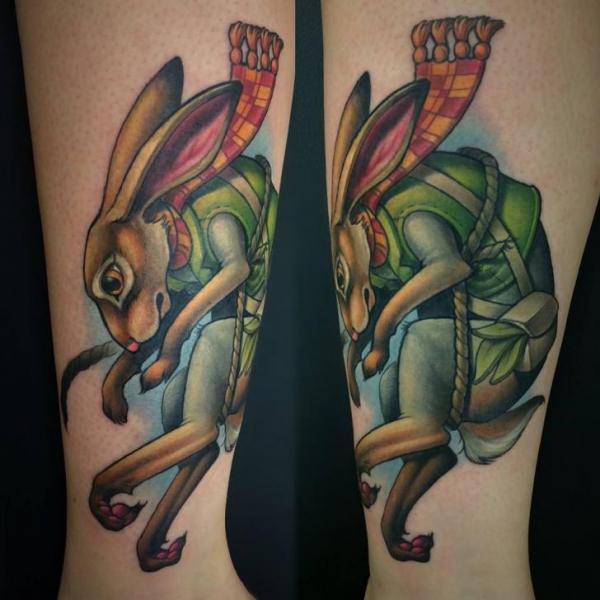 Tatuaje Brazo Conejo por Niteowl Tattoo
