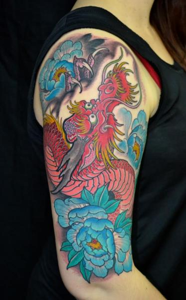 Shoulder Japanese Dragon Tattoo by Dalmiro Tattoo