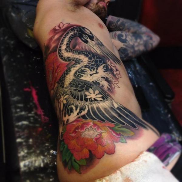 Tatuaggio Fianco Oca di Dalmiro Tattoo