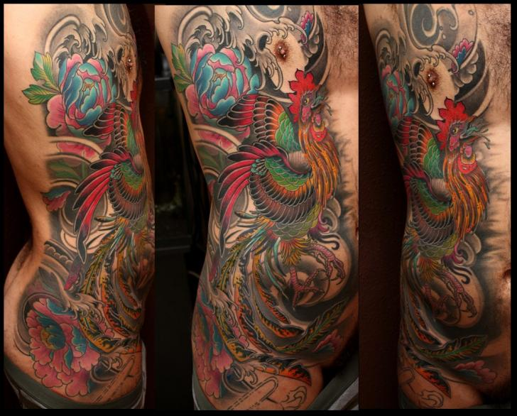 Side Rooster Tattoo by Dalmiro Tattoo
