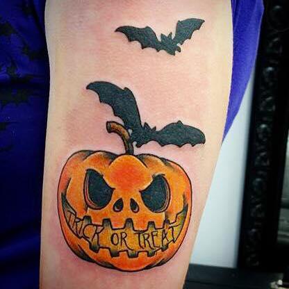 Arm Bat Halloween Tattoo by Alex Heart