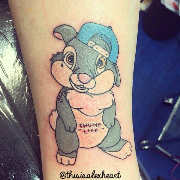 Arm Rabbit Tattoo by Alex Heart