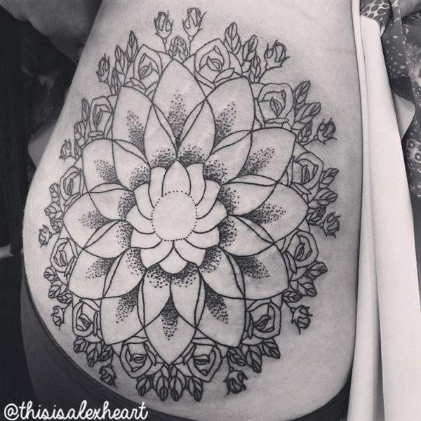 Flower Mandala Tattoo by Alex Heart