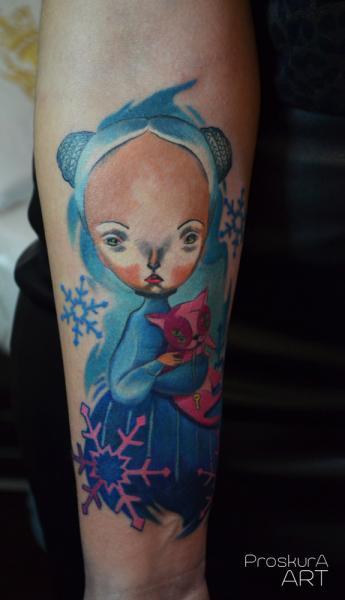Arm Character Tattoo by Proskura Art
