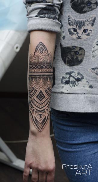 Arm Dekoration Tattoo von Proskura Art