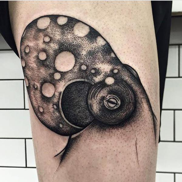 Octopus Thigh Tattoo by Parliament Tattoo