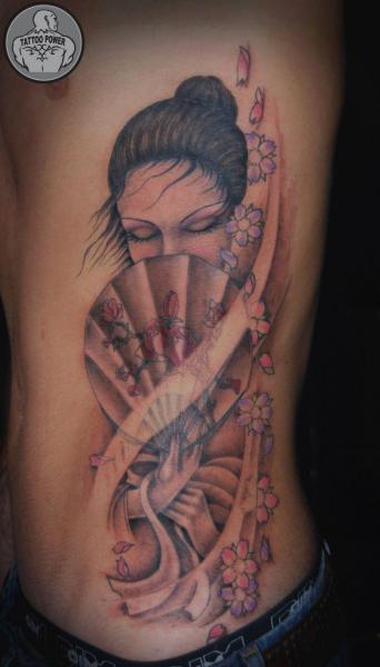 Side Geisha Tattoo by Tattoo Power