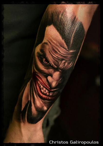 Arm Joker Tattoo by El Loco Tattoo Lounge