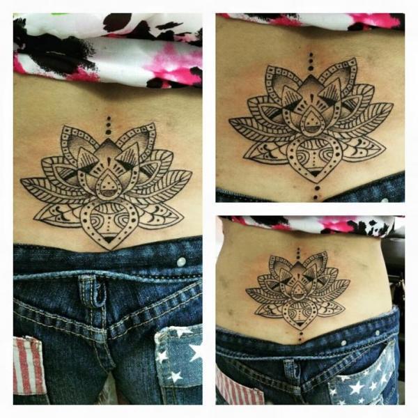 Back Mandala Tattoo by Hannibal Uriona