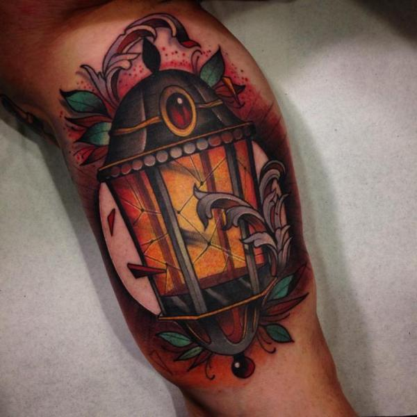 Arm Lamp Tattoo by Blessed Tattoo