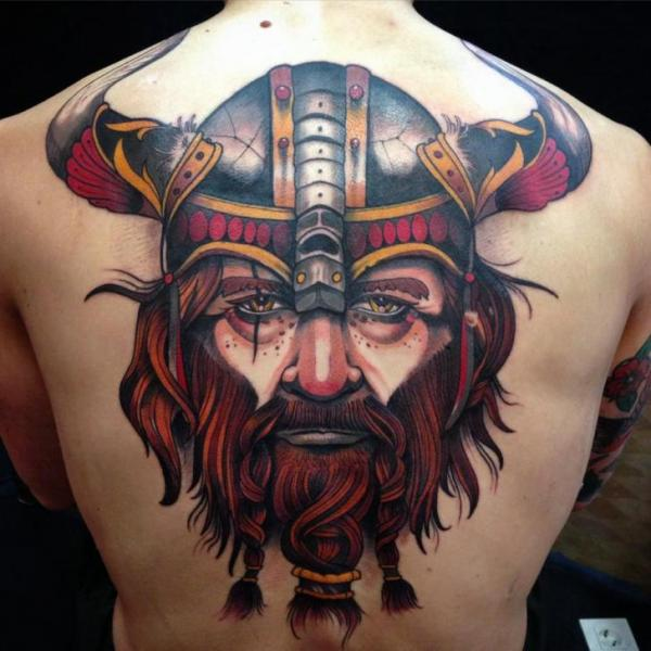 Back Viking Tattoo by Blessed Tattoo