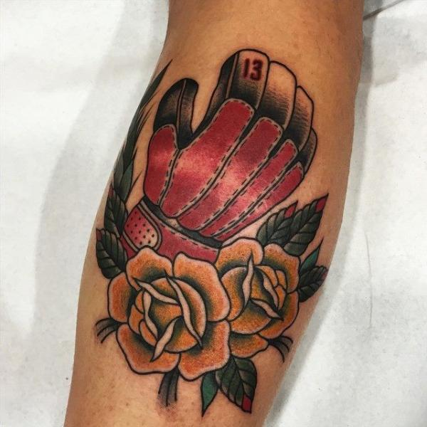 New School Waden Blumen Box Tattoo von Blessed Tattoo