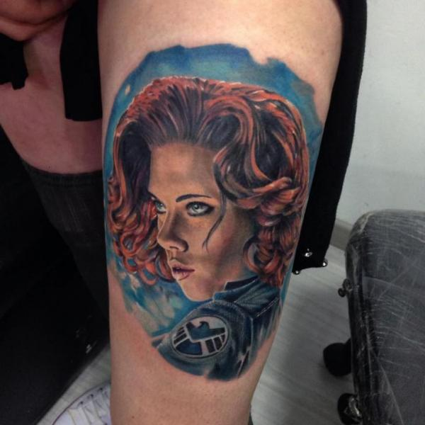 Arm Portrait Realistic Tattoo by Fontecha Iron