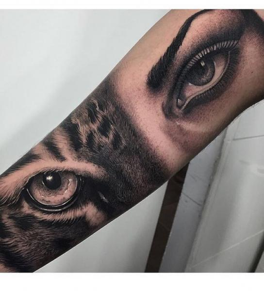 Arm Realistic Eye Tattoo by PXA Body Art