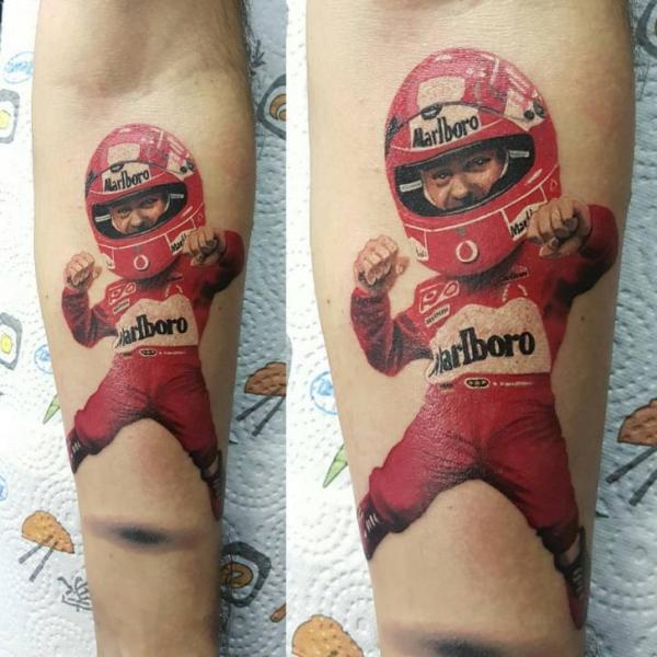 Arm Character F1 Pilot Tattoo by NR Studio