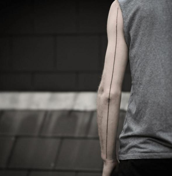 Arm Line Sleeve Tattoo by NR Studio