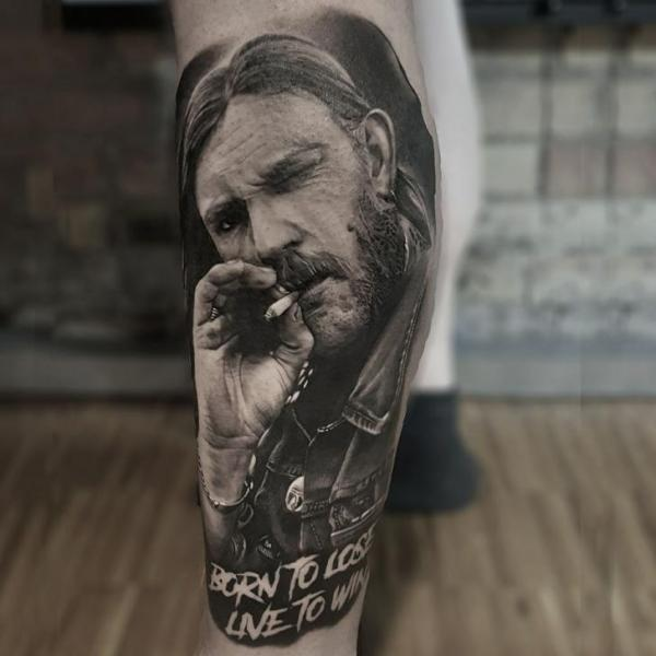 Realistic Calf Tattoo by NR Studio
