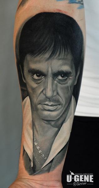 Tatuaje Brazo Retrato Al Pacino por Voice of Ink