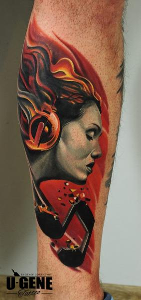 Arm Music Headphones Woman Tattoo by Voice of Ink