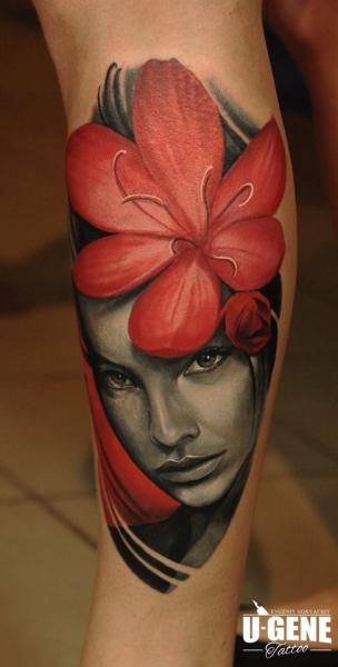 Arm Flower Woman Tattoo by Voice of Ink