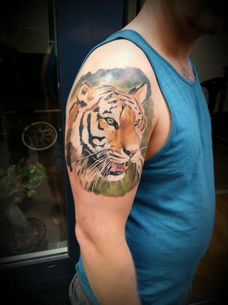 Arm Tiger Tattoo by Art Faktors
