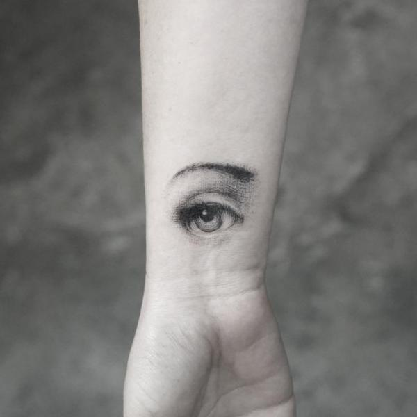 Arm Eye Dotwork Tattoo by Bang Bang