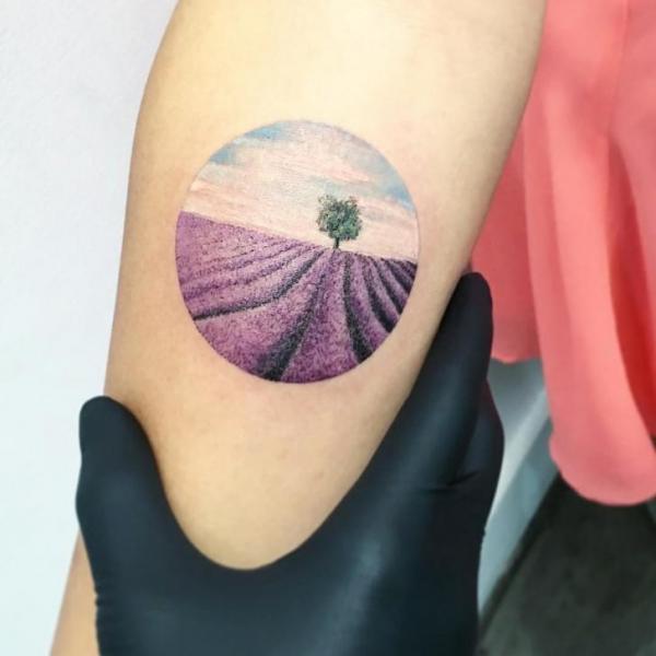 Arm Blumen Baum Tattoo von Bang Bang