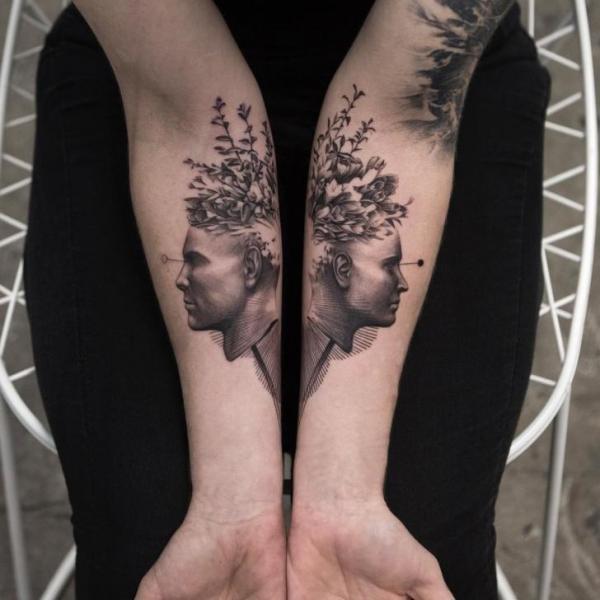 Arm Head Tattoo by Bang Bang