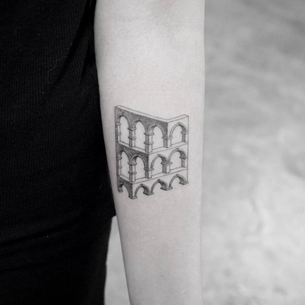 Arm Optical Tattoo by Bang Bang