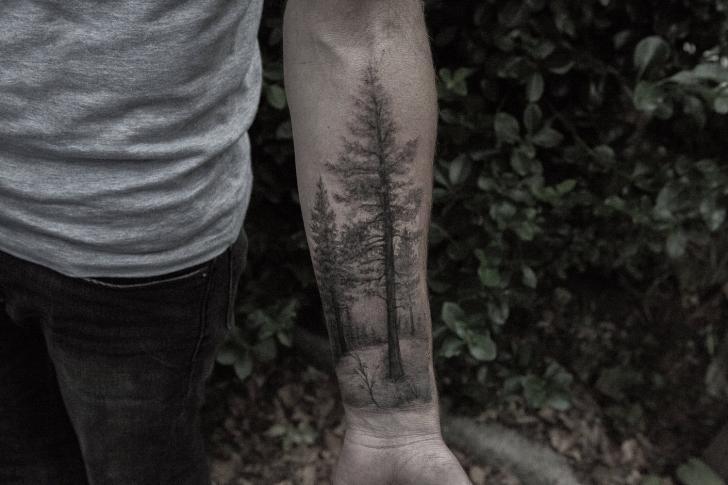 Arm Realistic Tree Tattoo by Bang Bang