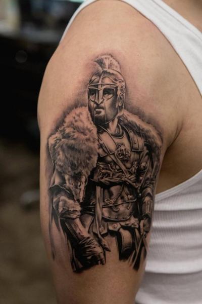 Arm Realistische Krieger Tattoo von Bang Bang