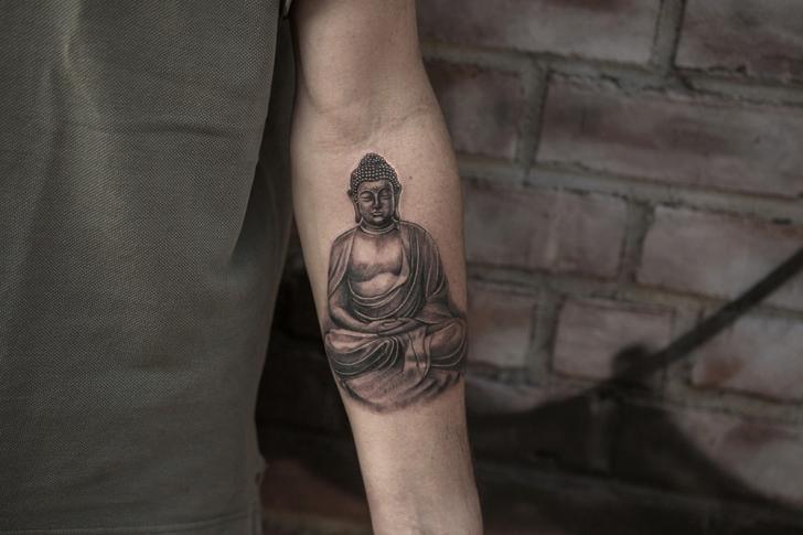 Arm Religious Tattoo by Bang Bang