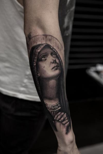 Arm Religious Madonna Tattoo by Bang Bang