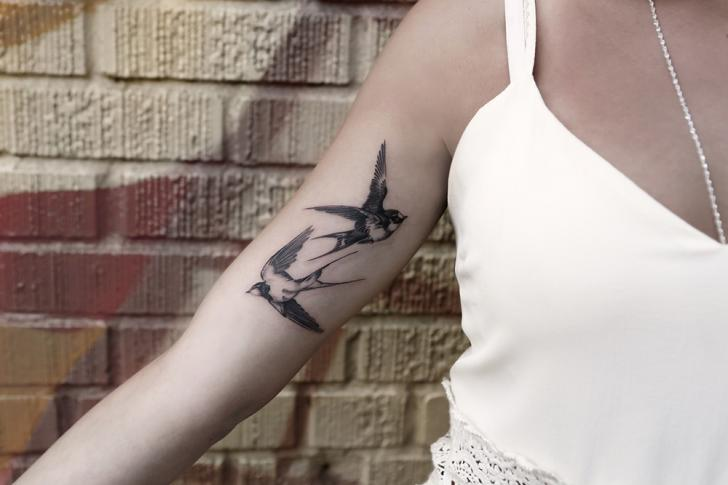 Arm Sparrow Tattoo by Bang Bang
