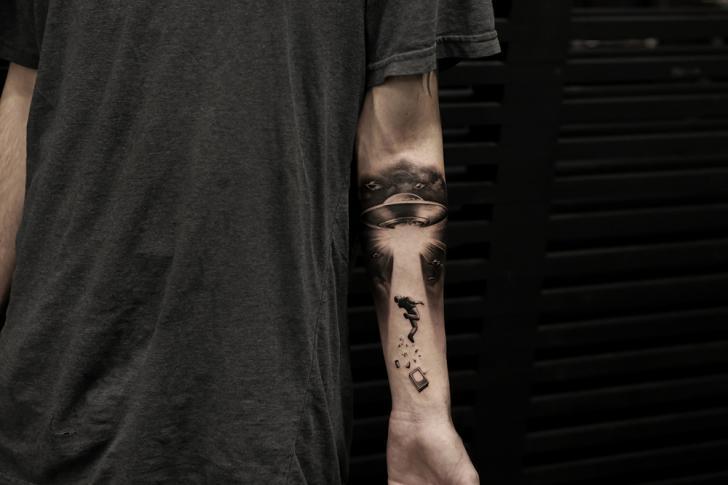 Arm Ufo Tattoo by Bang Bang