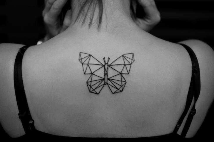 Back Butterfly Tattoo by Bang Bang